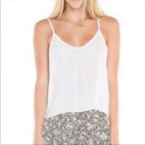 Brandy melville white swing racerback tank top